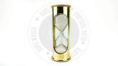 New Vintage Solid Brass Nautical Maritime Sand Timer  Antique Pirate Sand Timer