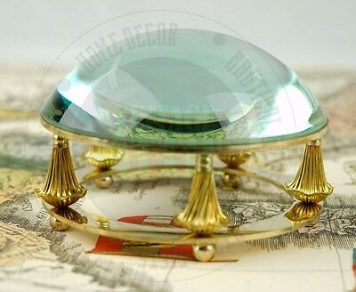 New NAUTICAL Marine Navigation Brass DESK MAGNIFYING GLASS PAPERWEIGHT DECOR