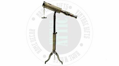New Vintage Brass Telescope With Tripod Stand, Rustic Home Decor Free Shipping