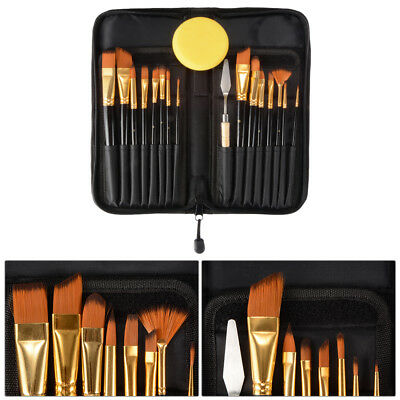 15pcs Art Painting Brushes Set Acrylic Oil Watercolor Artist Paint Brush AC790