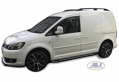 VW Caddy 2004-2015 Front Wind Deflectors 2pc Set Internal Fit TINTED HEKO