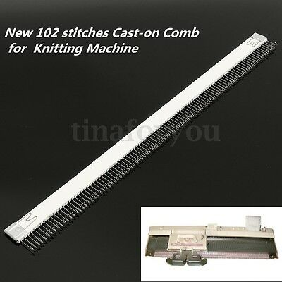 1Pc 102 Stitches Cast-on Comb 46cm for Brother All 4.5mm/9mm Knitting Machine