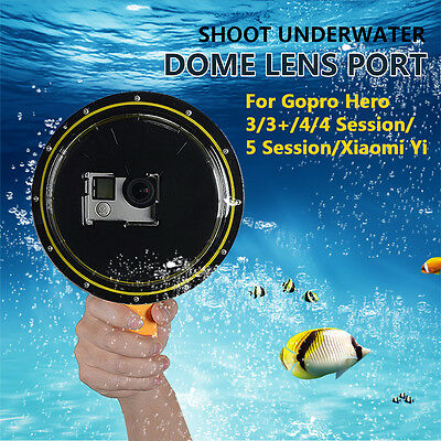 Waterproof Dome Port Cover For Gopro Hero 5 Session/4/4 Session/3 3+/Xiaomi Yi