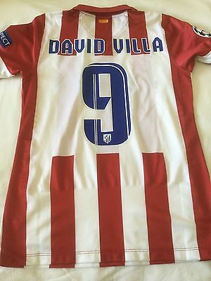 DAVID VILLA - no Match WORN - Atletico Madrid - FINAL 2014  Real Madrid