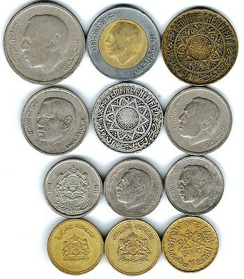 12 different world coins from MOROCCO some scarce