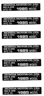 Honda ATC70 - Sticker