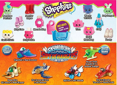 Mcdonalds Happy Meal Toys Shopkins Completed Set Australia 2016 Bnip