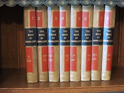 Encyclopaedia THE BOOK OF KNOWLEDGE 8 Volume Illustrated Set Waverley Book Co -