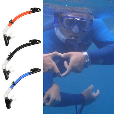 Auto Totally Dry Snorkel Diving Snorkeling Swim Scuba Breath Air Tube Underwater