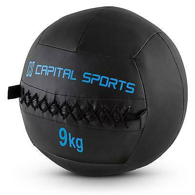 Wall Ball Excercise Medicine Leather Black Sports Cross-Training Fitness 9Kg X 5