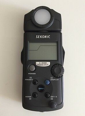 Sekonic C500 Colour Meter Hardly Used Perfect Condition With Pouch Instructions