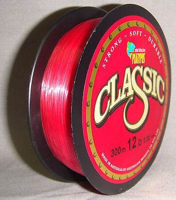 Platypus Classic 12lb x 300m Mono Line - Red *New in Packaging*