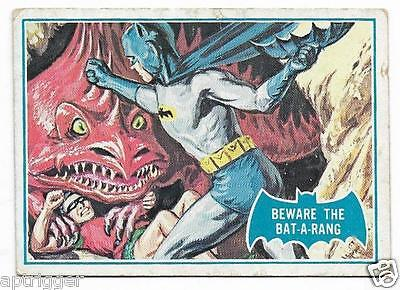 1966 Batman Blue Bat (38B) Beware The Bat-a-rang