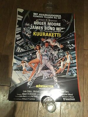 Original Moonraker James Bond Poster 007 Roger Moore