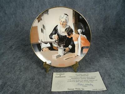 """Heritage House Norman Rockwell Decrative Plate """"Mom's Special Treat"""""""