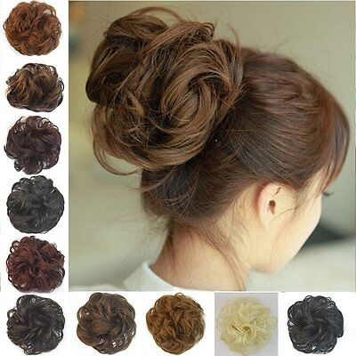 Curly Messy Bun Hair Piece Scrunchie - Choose Your Shade RM