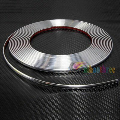 15M 8mm Chrome Moulding Trim Strip Car Door Edge Scratch Protector Cover【AU】
