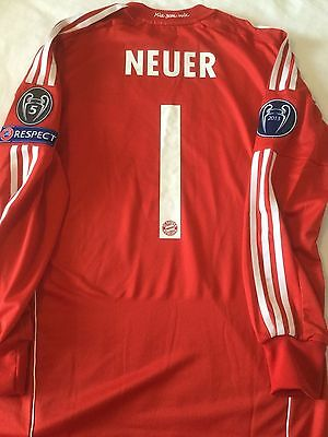 NEURER-  BAYERN MUNCHEN - PLAYER ISSUE  UEFA CHAMPIONS LEAGUE - no match worn