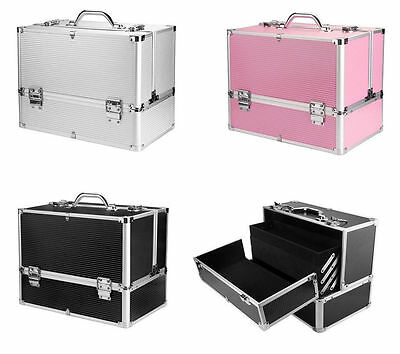Jewelry Beauty Box Make Up Nail Cosmetic Vanity Case Extra Large Space Storage