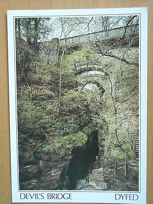 Old Postcard Of The Devil's Bridge And Punch Bowl, Dyfed