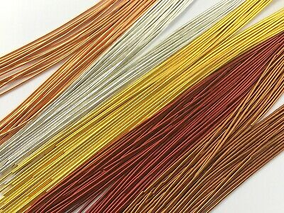 assorted 15ms of 0.3mm PLATED Beading WIRE jewellery wire DIY bracelet wire