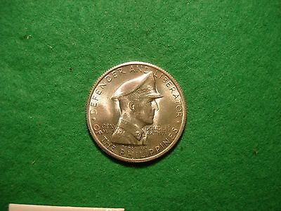 MacArthur 1947-S Philippines one peso Silver Coin BU FREEPOST