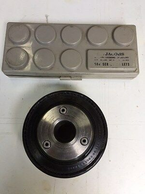 Jacobs 500 Series Rubber Flex Collet Chuck + Complete Set Of Collets In Case