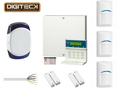 Scantronic 9651 EN41 Wired Intruder Alarm System LCD Keypad With 3 Bosch PIR's