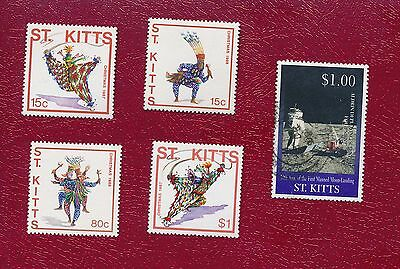 Joblot Old Stamps ST.KITTS  5 Stamps   AP023