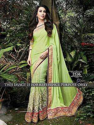 Latest Indian Designer Green Embroidered Bollywood Inspired Party Wear sarees