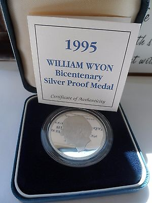 William Wyon Silver Proof Bicentenary Silver Medal 1995