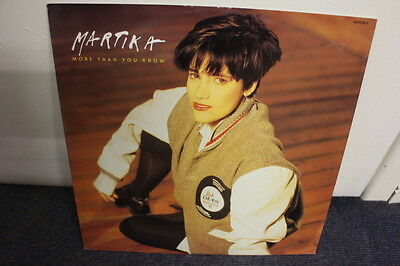 """12"""" Vinyl Record, Martika, More Than You Know (Dance/house Mix) Exc Cond"""