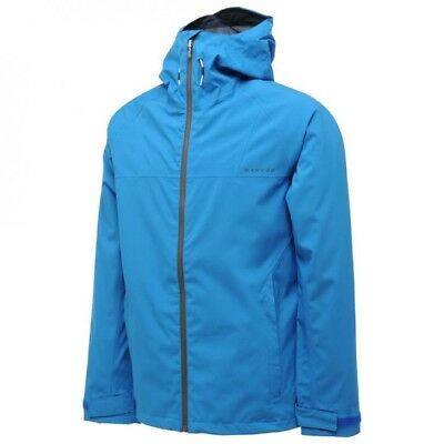 Dare2b Encircle Mens Waterproof Breathable Hooded Lined Jacket Blue XXL