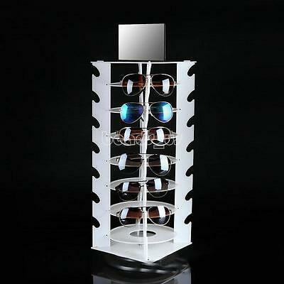 Round Plastic Column Sunglasses Eyeglasses Glasses Display Rack Holder Stand