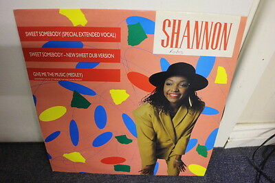 """12"""" Vinyl Record, Shannon, """"sweet Somebody"""" (Special Extended Vocal)  Exc Cond"""