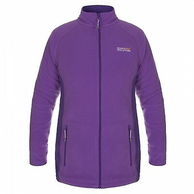 Regatta Rillo Womens Full Zip Mid-Weight Super-Soft Fleece Jacket Purple Size 10