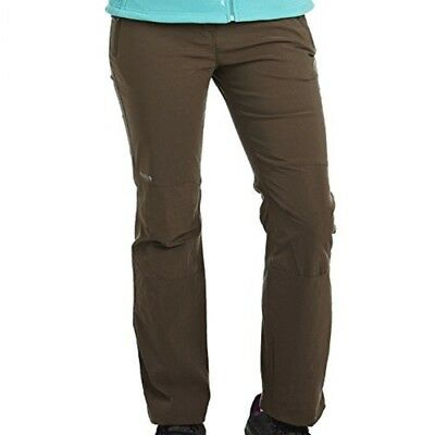 Regatta Geo Extol Womens Water Repellent Wind Resistant Trousers Brown