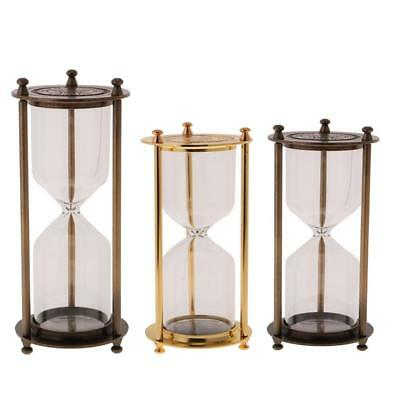 Vintage Metal Empty Sand Timer Hourglass Home Office Table Decor Creative Gift