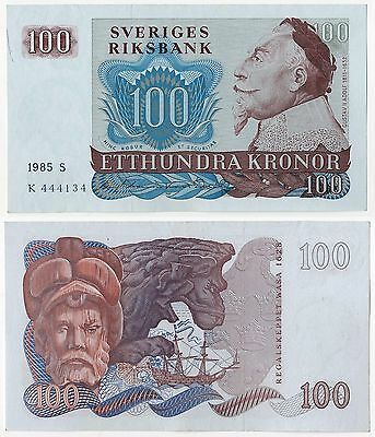 Sweden 100 kronor 1985  banknote, high grade