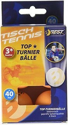 Best Sport 3-Star Table Tennis Tournament Balls - Orange