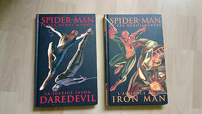 SPIDER-MAN et les super heros : lot 2 tomes  (2 + 8) daredevil &&  iron man