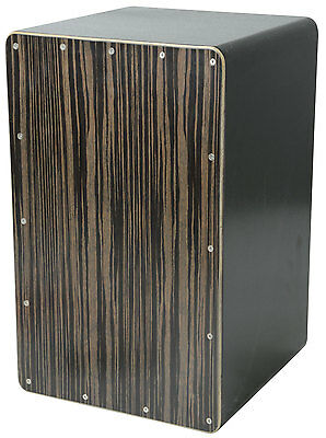High Quality Black Hickory Cajon with Protective Carry Bag Percussion Instrument