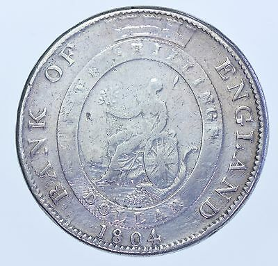 1804 Bank Of England Dollar (5 Shilling), Silver Coin From George Iii Fine
