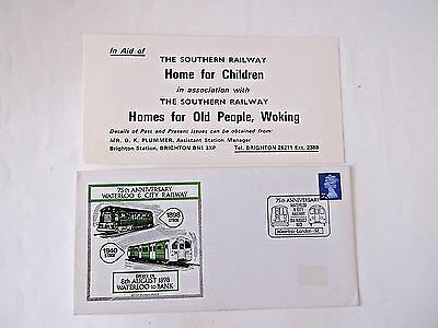 WATERLOO  and CITY RLY 75th anniversary 8 August 1973 commemorative cover/insert