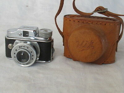 Vintage HIT Miniature Spy Camera WITH LEATHER CASE Estate