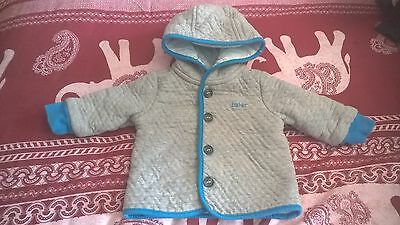 TED BAKER jacket, hoody cardigan 0-3 mths, boys, logo, excellent condition