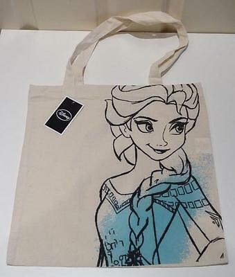 Brand New Official Disney Frozen Elsa Canvas Shopping Bag Tote- With Tags