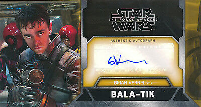 Topps Star Wars The Force Awakens 3D Widevision Brian Vernel Auto Card WVA-BV