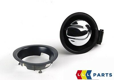 Mini New Genuine R55 Clubman R56 Retrofit Chrome Fuel Gas Cap Lid Set 0419864