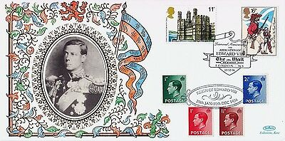 GB BENHAM Silk Cover: 1996 The Abdication of KEVIII + Mail on Sunday Cancel